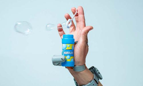 """A robotic """"extra"""" thumb."""